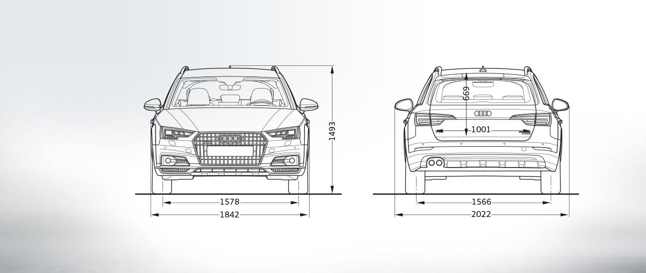 Front And Rear Side View Audi A4 Allroad Quattro All Wheel