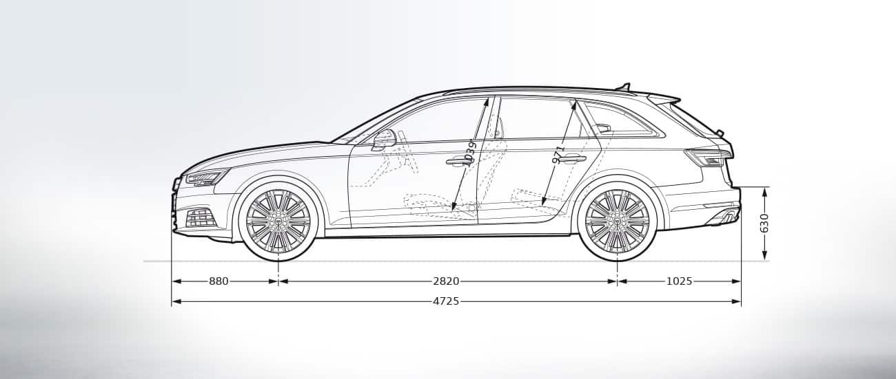 Side View Audi A Avant Intelligent Luxury Audi Australia - Audi official website