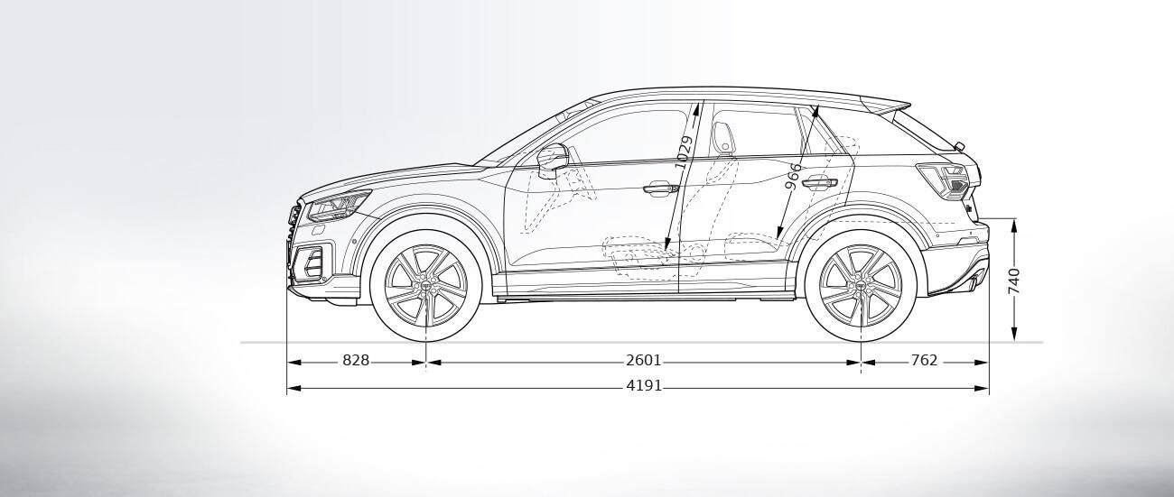 Side View Audi Q2 Compact Suv Audi Australia Q2 Audi